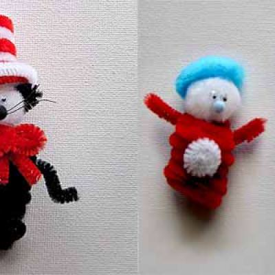 Dr. Seuss Cat in the Hat Craft {Kids Crafts}