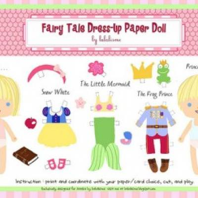 Fairy Tale Paper Doll Printable {Free Printable}