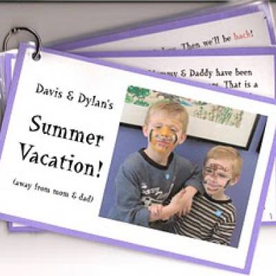 Kids Vacation Itinerary Booklet