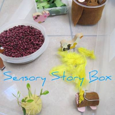 Sensory Story Box - Mole's in Love {Sensory}