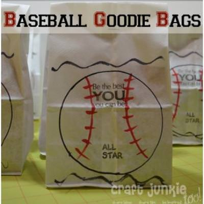 T-Ball Goodie Bags {Paper Crafts}