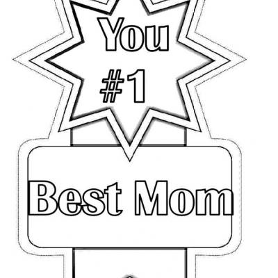 1 best mom award mothers day coloring pages - Mothers Day Coloring Pages Free