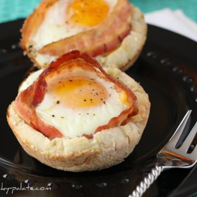 Bacon and Cheese Egg McMuffin Cups {menu and breakfast}