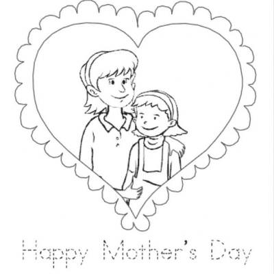 Mother and Daughter Coloring Page {mother and child} | Tip Junkie