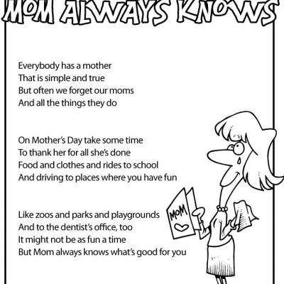 Nifty image regarding printable mothers day poems
