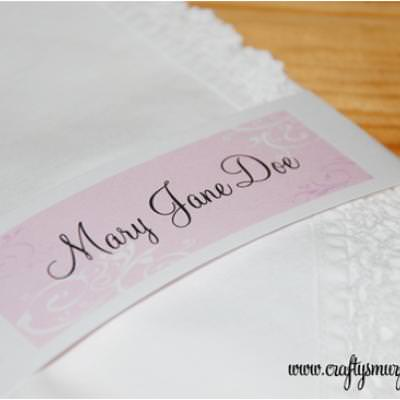 Personalized Mother's Day Napkin Wraps {Mom Printables}