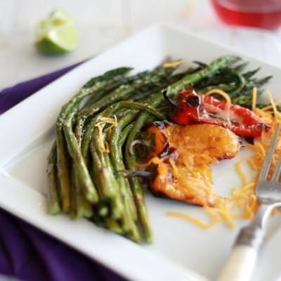 Roasted Red Pepper and Asparagus {Mother's Day Recipe}