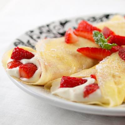 Strawberry White Chocolate Mouse Crepes {Mother's Day Recipe}