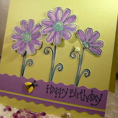 A Striking Birthday Card {Happy Birthday Wishes}