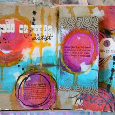 Art Journal Tutorial {Crafts with Paper}