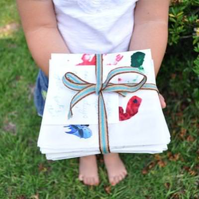 Artwork Lunch Bags {Preschool Crafts}