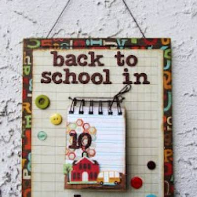 Back to School Countdown Calendar {Paper Craft}