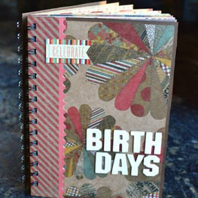 Birthday Book and Card Holder-All In One {Paper Crafts}