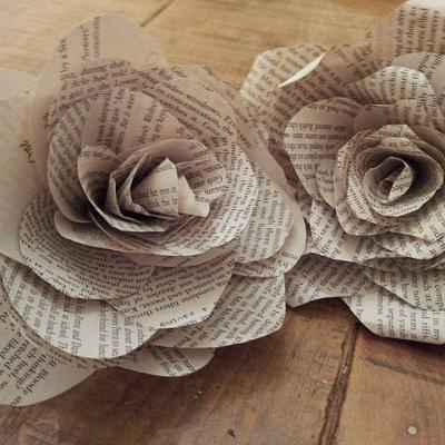Book Page Roses {Papercraft}