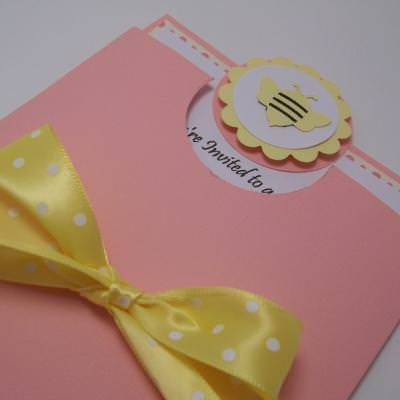 Bumble bee invitation card crafts tip junkie bumble bee invitation card crafts stopboris Image collections