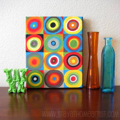 Concentric Circles Canvas Art {Art Painting}
