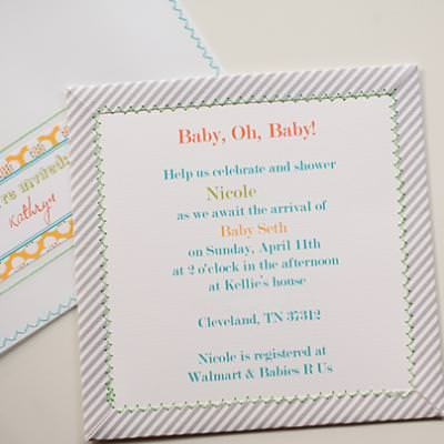 Diy baby shower invitation handmade card ideas tip junkie diy baby shower invitation handmade card ideas filmwisefo