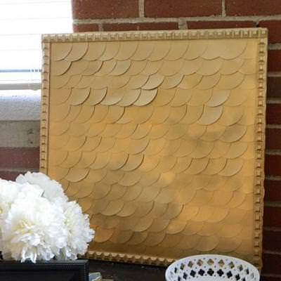 DIY Fish Scale Art {Art Work}