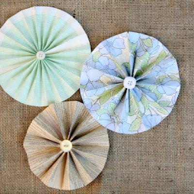 DIY Paper Flower Wheels {Scrap Book}