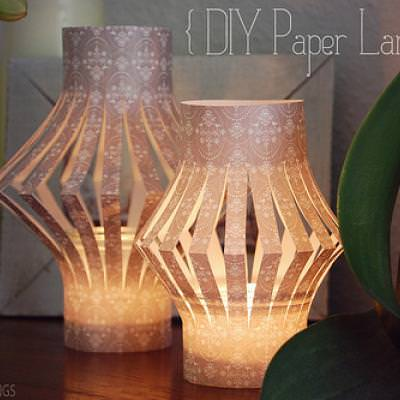 DIY Paper Lanterns {Simple Paper Craft} - Tip Junkie