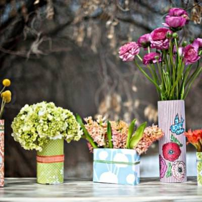 DIY Tin Can Vases {Can Craft}