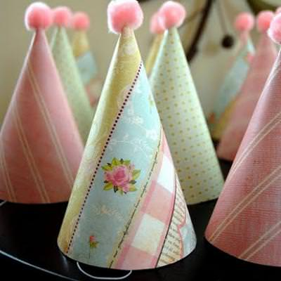 Dollar Store Party Hats {Easy Paper Craft}