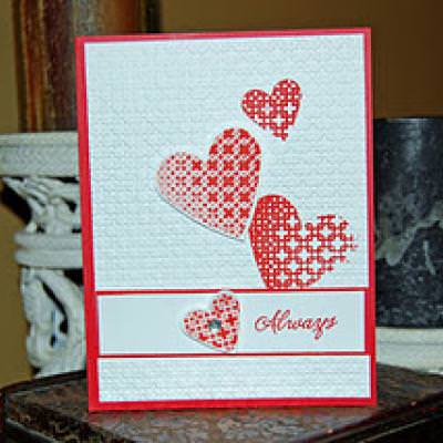 Embossed Kiss Technique {Stamping Technique}