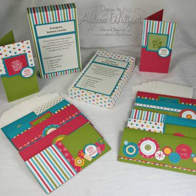 Emergency Birthday Card Tutorial (.PDF) {Cards and Crafts}