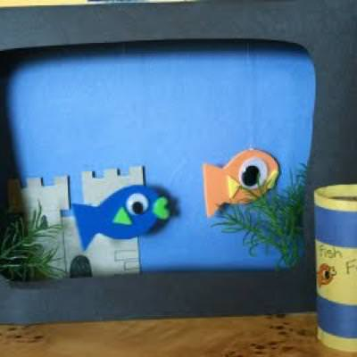 Fish Tank Craft {Preschool Crafts}