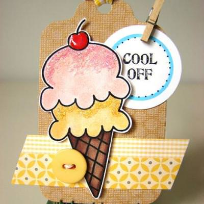 Free Ice Cream Digital Stamp {Digital Stamps}