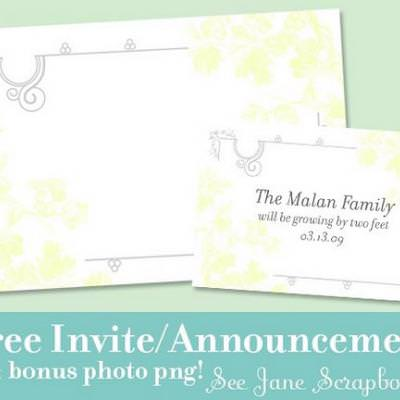 Free Invitation/Announcement Printable {Card Making Craft}