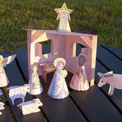 Free Printable Christmas Nativity {Kids Crafts}