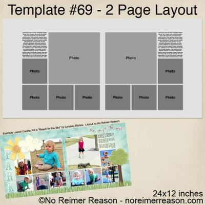 Free Two Page Scrapbook Template {Scrapbook Layout} | Tip Junkie