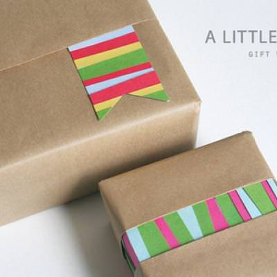 Gift Wrapping Using Scraps {Recycled Craft}