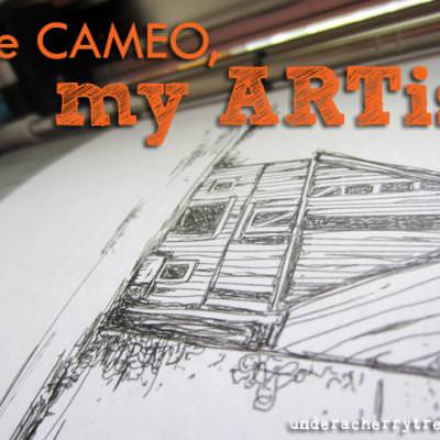 How to draw sketches with the Silhouette Cameo {Silhouette}