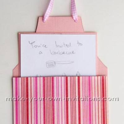 How To Make An Apron Invitation Card {Template For Cards}