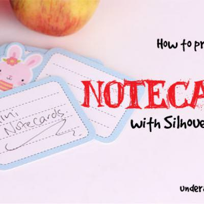 How to make Mini Notecards with Silhouette Studio {Silhouette}