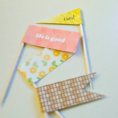Let's Make Toothpick Flags {Free Scrapbook}