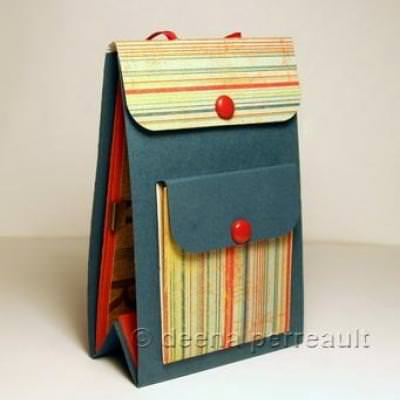 Mini Backpack Album Tutorial {Scrap Book}