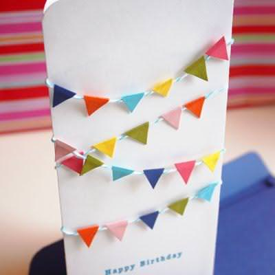 Mini Bunting Birthday Card {Happy Birthday Wishes}
