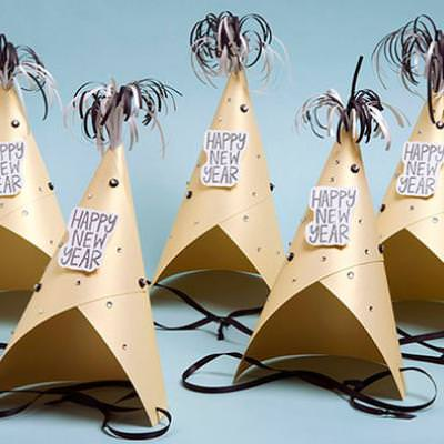 New Years Party Hats {Paper Craft}