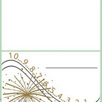 New Years Place Cards {Place Card Template}