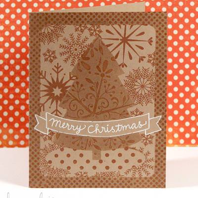 One Layer Holiday Card {Stamps}