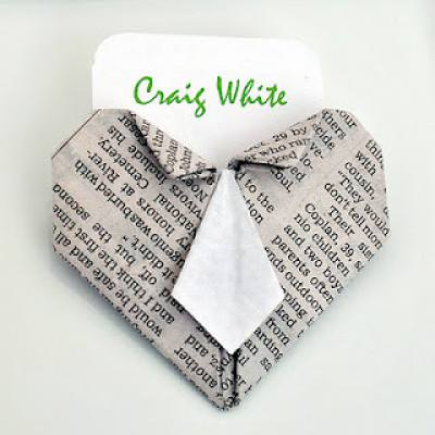 Origami Heart Tie Placecard Holder {Simple Origami}