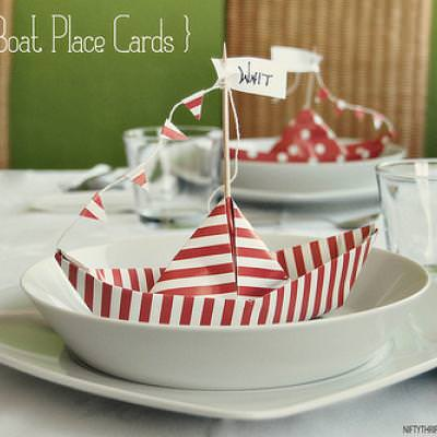 Paper Boat Place Cards {Place Card Template}