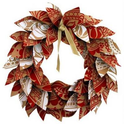Paper Christmas Wreath {Simple Craft}