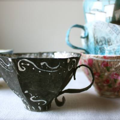 Paper Mache Teacup Pattern {Paper Craft Ideas}