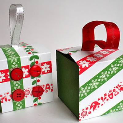 Recycled Gift Box Ornaments {Recycled Craft}