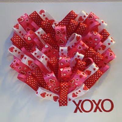 Ribbon Heart Card {Table Decoration}