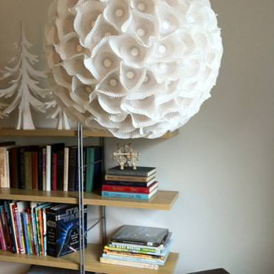 Sculptural Paper Orb Light {Decorating with Paper}